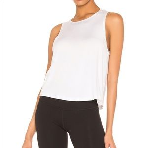 Beyond Yoga Over Under Relaxed Tank in White